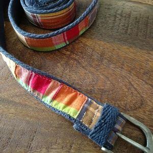 JCrew women's L/Xl patchwork belt